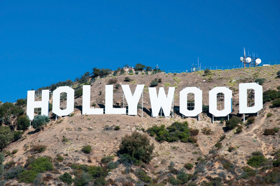 Schriftzug Hollywood