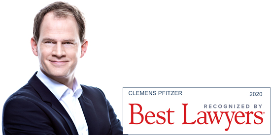 Clemens Pfitzer Best Lawyers 2020