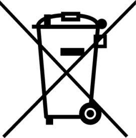 ElektroG-Kennzeichnung durchgestrichene Mülltonne